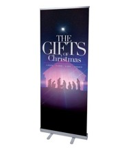 The Gifts of Christmas Advent (31 inch x 79 inch) RollUp Banner