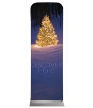 Discover Hope Bright Tree 2' x 6' Fabric Sleeve Banner
