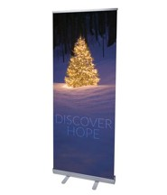 Discover Hope Bright Tree (31 inch x 79 inch) RollUp Banner