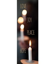 Candle Advent Words (2' x 6') Vinyl Banner