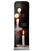 Words of Advent 2' x 6' Fabric Sleeve Banner