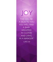 Advent Luke 2 Joy (2' x 6') Vinyl Banner