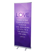 Advent Luke 2 Love (31 inch x 79 inch) RollUp Banner