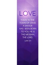 Advent Luke 2 Love (2' x 6') Vinyl Banner