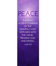 Advent Luke 2 Peace (2' x 6') Vinyl Banner