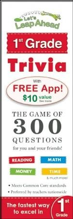 Let's Leap Ahead 1st Grade Trivia Notepad: The Game of 300 Questions for you and your friends!