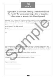 Faculty Jurisdiction Form No. 16: Work Concerning Trees