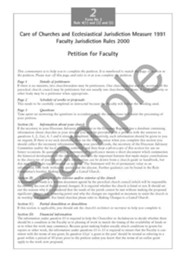 Faculty Jurisdiction Form No. 2: Petition for Faculty  -