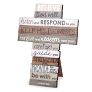 Believe Stacked Words Cross, Medium