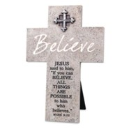 Believe Wall or Desktop Cross