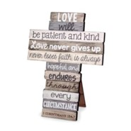 Love Stacked Words Cross, Small