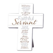 Faithful Servant Cross, Cream