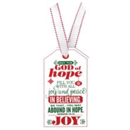Joy, Christmas Tag Ornament (Rom 15:13)
