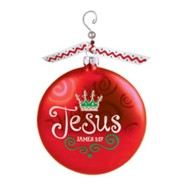 Jesus (James 1:17), Glass Ornament With Swirl