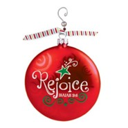 Rejoice, Glass Ornament with Swirl, Isaiah 9:6