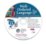 Well-Ordered Language 2A: The Curious Child's Guide to Grammar, Extra Practice/Assessments PDF CD-ROM