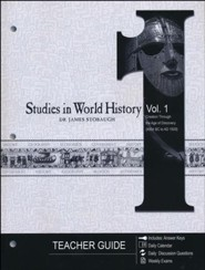 Studies in World History Volume 1, Teacher's Guide