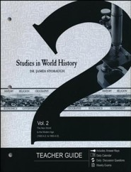 Studies in World History Volume 2, Teacher's Guide