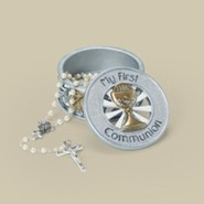 My First Communion Keepsake Box, Gold and Silver