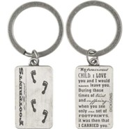 Footprints Keyring