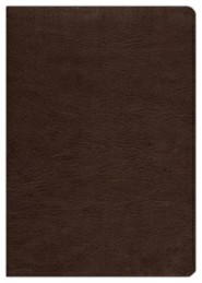 Premium Leather Brown Book Black Letter - Slightly Imperfect