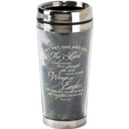 Wings As Eagles, Travel Mug with Scripture