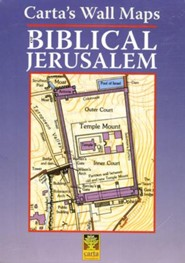 Carta's Wall Maps of Biblical Jerusalem