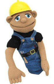 Construction Worker Hand Puppet