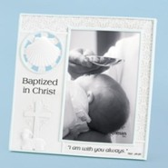 Baptized In Christ Photo Frame, Blue