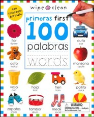 First 100 Words Bilingual Spanish/English, Wipe Clean