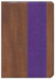 Imitation Leather Brown / Purple Book Black Letter