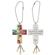 Cross, Faith Car Charm