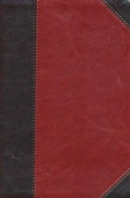Imitation Leather Brown / Red Book Black Letter