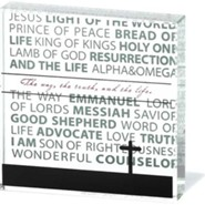 Names of Jesus Glass Block