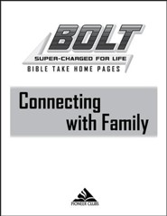 BOLT Connecting with Family: Take Home Pages, 10 pack