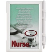 Nurse, A Caring Heart, Memo Pad and Pen