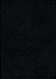 Bonded Leather Black Large Print Book Black Letter Thumb Index - Slightly Imperfect