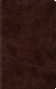Imitation Leather Brown Book Red Letter - Slightly Imperfect