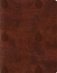 Imitation Leather Brown Leaves Design