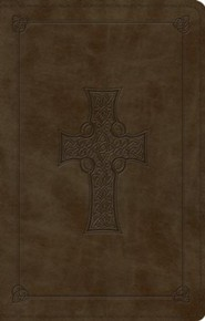 Imitation Leather Brown Large Print Black Letter with Celtic Cross