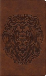 Imitation Leather Brown Book Red Letter Royal Lion Design