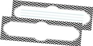 Black Tie Affair Chevron Double-Sided Desk Tags/Name Plates (Pack of 36)