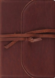 ESV Journaling Bible, Interleaved Edition (Brown, Flap with Strap), Natural Leather, Brown  -