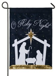 O Holy Night, Nativity Silhouette Flag, Small