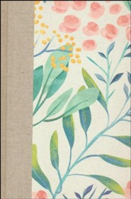 Hardcover White / Green Large Print Berries and Blooms