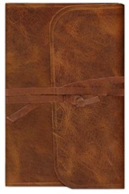 Genuine Leather Brown Book Red Letter with Strap