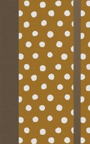 Hardcover Tan Book Red Letter Polka Dots