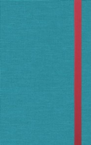 Hardcover Turquoise Book Red Letter