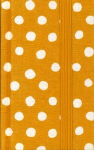 Hardcover Tan Polka Dots