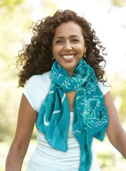 Joy, Teal Scarf (Psalm 28:7 & Zephaniah 3:17)